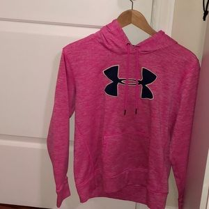 Pink and Blue Under Armour Hoodie